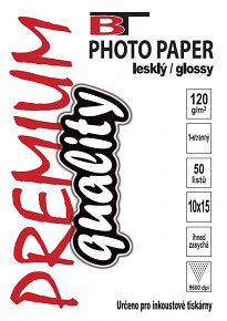 BT fotopapír lesklý  10x15 - 120g (50listů)
