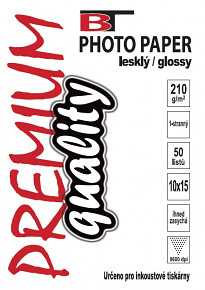 Kvalitní fotopapír lesklý 10x15 - 210g 50listů