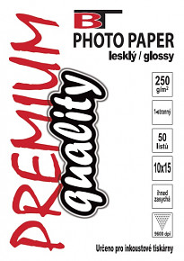 Kvalitní fotopapír lesklý 10x15 - 250g 50listů