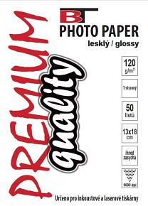 BT fotopapír lesklý  13x18  - 120g (50listů)