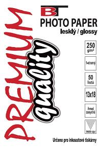 Kvalitní fotopapír lesklý 13x18 - 250g 50listů