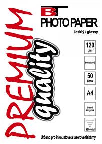 BT fotopapír lesklý  A4 -120g (50listů)