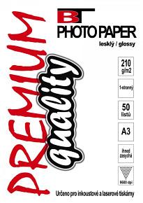 BT fotopapír lesklý A3 - 210g - 50listů