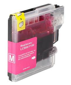 Kompatibilní inkoustová cartridge s: BROTHER LC-980 / LC-1100 Magenta