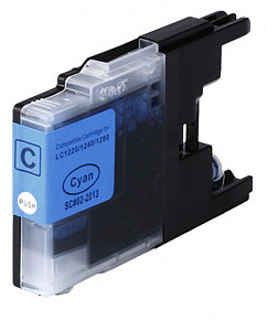 Kompatibilní cartridge s: BROTHER LC-1220 / LC-1240 / LC-1280 Cyan