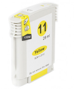 Kompatibilní inkoustová cartridge s: HP C4838A yellow č.11 (28ml)