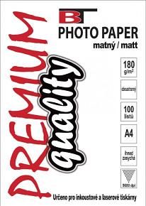 BT fotopapír oboustranný matný A4 - 180g (100listů)