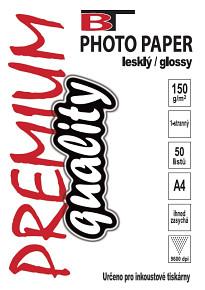 BT fotopapír lesklý A4 - 150g (50listů)