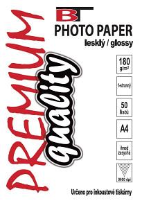 BT fotopapír lesklý A4 - 180g (50listů)