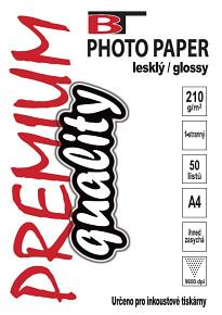 BT fotopapír lesklý A4 - 210g (50listů)