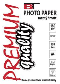 BT fotopapír matný A4 - 180g (100listů)