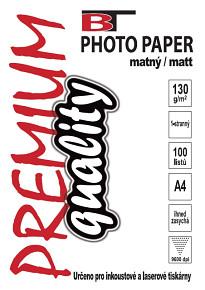 BT fotopapír matný A4 - 130g (100listů)