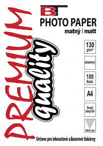 BT fotopapír oboustranný matný A4 - 130g (100listů)