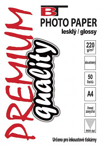 BT fotopapír oboustranný lesklý A4 - 220g (50listů)