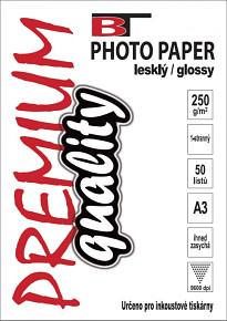 BT fotopapír lesklý A3 - 250g - 50listů