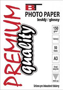 BT fotopapír lesklý A3 - 150g - 50listů
