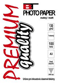 BT fotopapír matný A3 - 130g - (100listů)