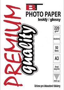 BT oboustranný fotopapír lesklý A3 - 220g - 50listů