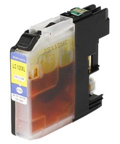 Kompatibilní inkoustová cartridge s: BROTHER LC125 Yellow s čipem (14ml)