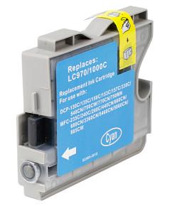 Kompatibilní inkoustová cartridge s: BROTHER LC-970 / LC-1000 Cyan