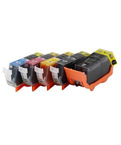 Sada 5ks kompatibilních cartridgí CANON PGI-520 a CLI-521