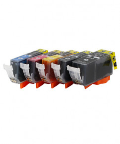 Sada 5ks PGI-525 a CLI-526 alternativních cartridge Canon s čipem