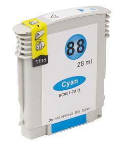 Kompatibilní inkoustová cartridge s HP C9391 Cyan č.88XL (28ml.)