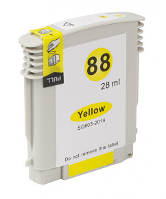Kompatibilní inkoustová cartridge s HP C9393 Yellow č.88 XL (28ml)