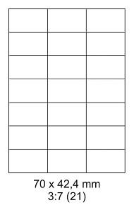 Samolepící ETIKETY 70x42,4 mm A4 - 100 listů