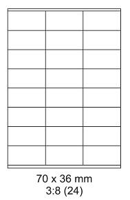 Samolepící ETIKETY 70x36 mm A4 - 100 listů