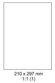 Samolepící ETIKETY 210x297 mm A4 - 100 listů