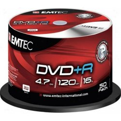 DVD+R EMTEC 4,7GB, 16x 50ks