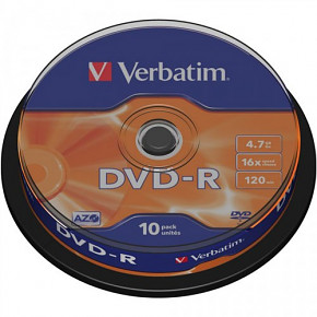 DVD-R Verbatim 4,7GB 16x 10-cake