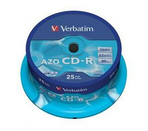 CD-R Verbatim - 700mb - 52x - 25pack