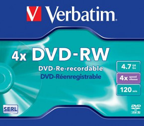 DVD-RW VERBATIM 4,7GB Jewel
