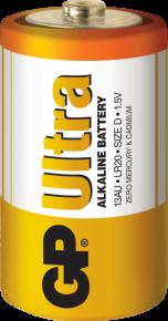 Baterie alkalická GP ultra plus LR20 (D)