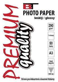 BT fotopapír lesklý A3 - 290g - 50listů