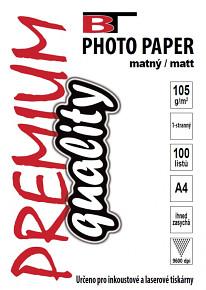 BT fotopapír matný A4 - 105g (100listů)