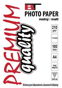BT fotopapír matný A4 - 210g (100listů)