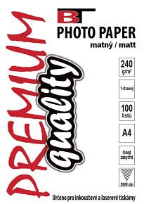 BT fotopapír matný A4 - 240g (100listů)