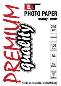 BT fotopapír oboustranný matný A4 - 210g (100listů)
