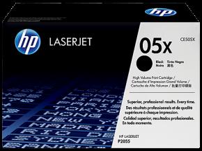 Originální laserový toner HP CE505X Black