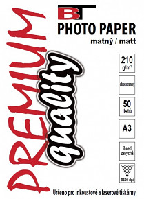 BT oboustranný fotopapír matný A3 - 210g - (50listů)