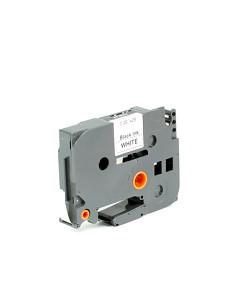 Kompatibilní laminovaná TZ páska BROTHER TZE-221 bílá / černá - 9mm