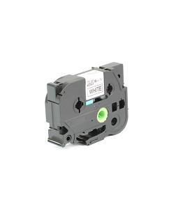 Kompatibilní laminovaná TZ páska BROTHER TZE-241 bílá / černá - 18mm