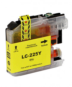 Alternativní inkoustová cartridge s: BROTHER LC-225 Yellow (16ml)