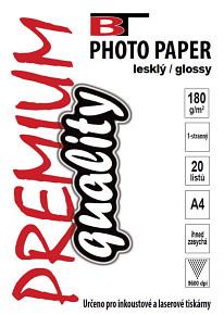 BT fotopapír lesklý A4 - 180g (20listů)