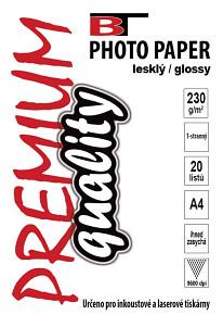 BT fotopapír lesklý A4 - 230g (20listů)