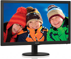 "LCD LED PHILIPS 24"" 243V5LSB FULL HD, DVI-D, DSUB"