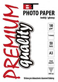 BT fotopapír lesklý A3 - 180g - 50listů